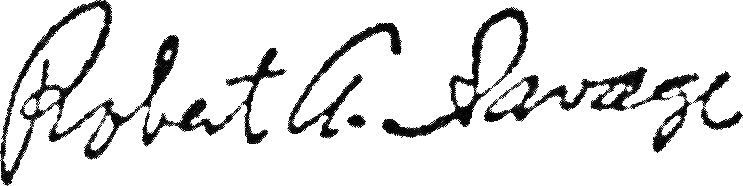 Robert Savage signature