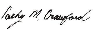 Cathy Crawford signature